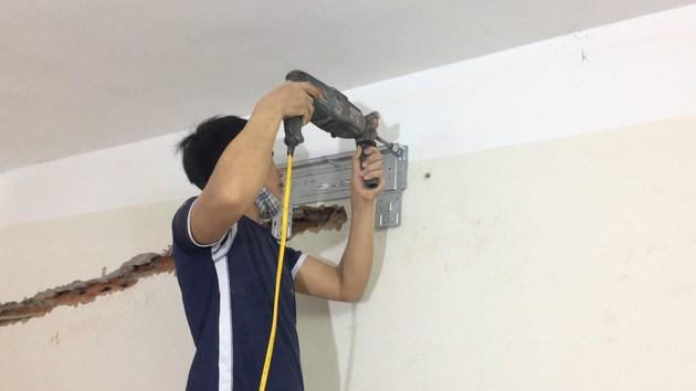 thi công ống đồng máy lạnh âm tường
