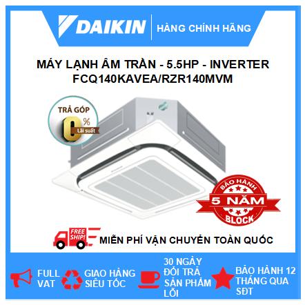 Máy Lạnh Âm Trần FCQ140KAVEA/RZR140MVM - 5.5hp - Daikin 50000btu - Inverter - R410